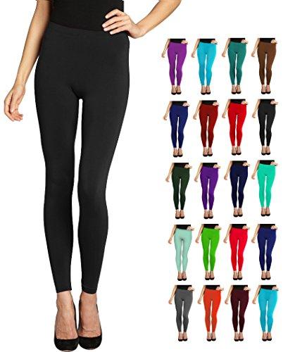 Lush Moda Seamless Full Length Basic Leggings – Variety of Colors