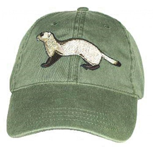 Black Footed Ferret Embroidered Cotton Cap