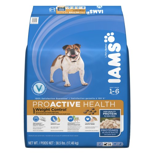 Iams Proactive Health Adult Weight Control Premium Dog Nutrition Supplements, 38.5-Pound
