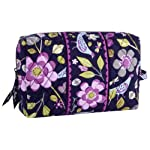Vera Bradley Large Cosmetic in Floral Night