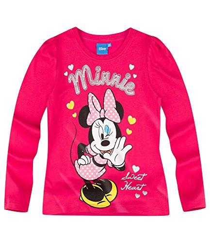 Disney-Minnie-Chicas-Camiseta-mangas-largas-Rojo-104