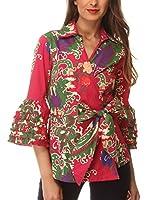 Almatrichi Camisa Mujer Alkes (Rojo / Multicolor)