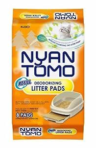 Nyantomo Purr Fect Potty Deodorizing Litter Pads Refill, 8 Pads