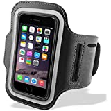 Black iPhone 5/5s Sports Running Armband Case Cover with Adjustable Velcro Strap & Key Pocket | for Cycling Run Jogging Fitness Training Exercise Sports Gym | Apple iPhone 5 Cases Covers and Accessories by iChoose®