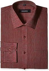 Greenfibre Men's Formal Shirt (38IT_40_Rust)