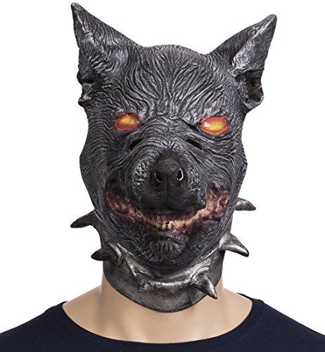 """VENKON - Testa maschera raccapricciante """"Cerbero"""" in lattice flessibile - taglia unica adulto - colore: multicolore"""