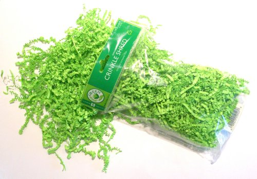 Jillson Roberts Recycled Crinkle Shred, Lime, 6 Count (CS41)