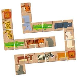 Janod 4502907 - Domino Savanne, Koffer, 28 Teile
