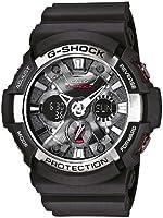 Casio - GA-200-1AER - G-Shock - Montre Homme - Quartz Analogique - Digital - Cadran Gris - Bracelet Résine Noir