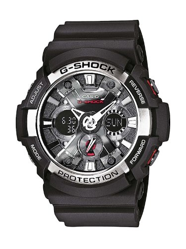 Casio G-SHOCK Men's Analogue Digital Watch GA-200-1AER with Resin Combi Strap