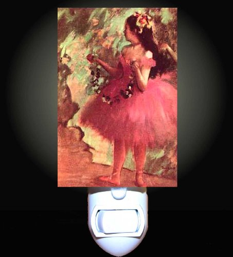 Dancer in a Rose Dress by Degas Decorative Night Light
