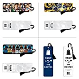 Doctor Who Bookmark 4-Pack Four Pack Sci Fi British TV Television Show Bookmarks (2x8)