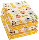 Kids Line 4 Count Happy Tails Receiving Blanket