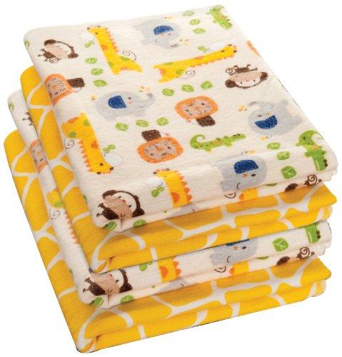 Kids Line 4 Count Happy Tails Receiving Blanket front-78085