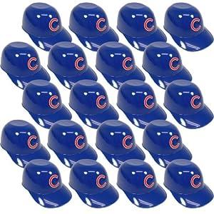 Chicago Cubs Official MLB 8oz Mini Baseball Helmet Ice Cream Snack Bowls (20) by MLB