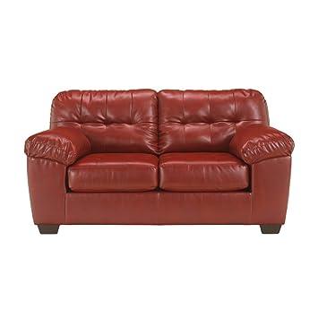Flash Furniture Signature Design by Ashley Alliston Loveseat in Salsa DuraBlend [FSD-2399LS-RED-GG]