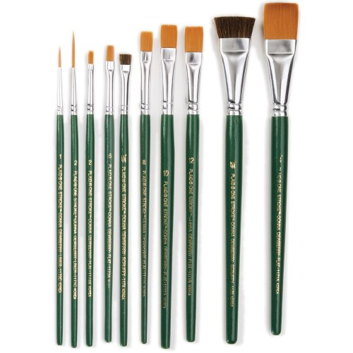 One Stroke Brush Set, 1059 (10-Pack) (One Stroke Paint Brushes compare prices)