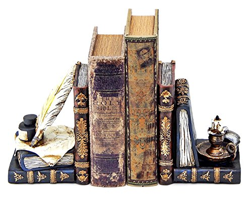Decorative Bookends Wizard's Writing Bundle with Magic Aladdin Lamp !