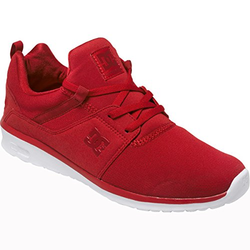 DC Men's Heathrow Skate Shoe, Red/White, 8 M US
