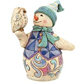 Heartwood Creek Pint Sized Snowman with Owl: Wintertime is a Hoot
