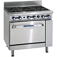 Heavy Duty 59kW 6 Burner Natural Gas Oven Range Commercial Kitchen Restaurant Cafe Catering