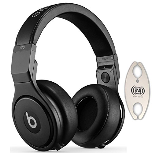 Beats by Dr. Dre Pro Infinite Black Over-Ear Headphones Carry Pack with Wire Holder