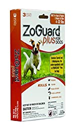ZoGuard Plus Drops for 4-22 lb. Dogs (Pack of 3)