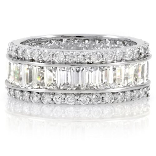Ling-Ling's Triple Row CZ Eternity Band - Final Sale