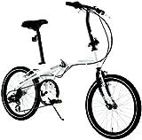 WACHSEN(ヴァクセン) 20インチ アルミフレーム 折りたたみ自転車 6段変速 Weiβ BA-101