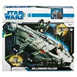 Star Wars 2010 Legacy Collection MILLENNIUM FALCON Huge 30 Inch Ship w/ Han & Chewbacca Figures