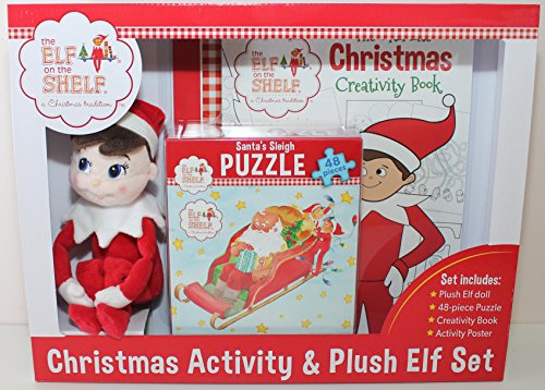 "Elf On The Shelf Christmas Activity Set With Plush 10"" Elf, Puzzle and More - 1"