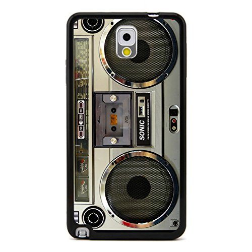 Nostalgic Boombox Vintage Hd Phone Case For Samsung Note 3 Case (Black)