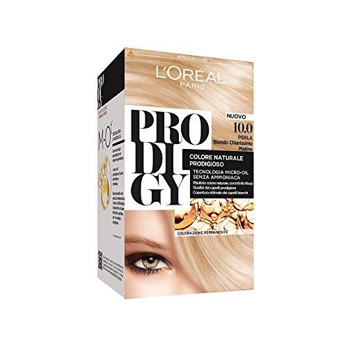 L'Oréal Paris Prodigy Colorazione Permanente, 10.0 Perla Biondo Chiarissimo Platino