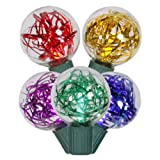 Vickerman 25-Light G40 Tinsel LED Light Set, Multicolored