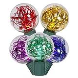 Vickerman 25-Light G40 Tinsel LED Light Set, Multicolored