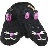 Old Glory - Unisex-adult Kiki The Kitty Knit Mittens Black