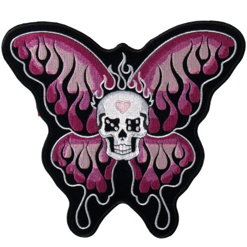 Hot Leathers Flaming Butterfly Patch (5