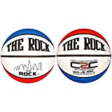 Anaconda Sports® The Rock® MG-4000-PC-RWB Deep Pebble Channel Composite Men's Basketball with Core 2 Cover Technology (Red/White/Blue)