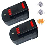 Enegitech 2 Pack Battery For Black & Decker 18V 3.0Ah HPB18-OPE High Capacity Cordless Power Tools (Slide Style)