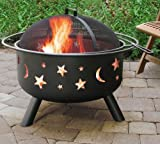 Landmann 28345 Big Sky Stars and Moons Firepit, Black