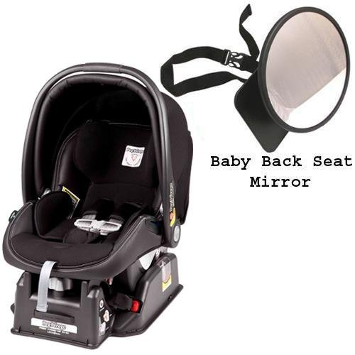 Peg Perego Primo Viaggio sip 30 30 Car Seat w Back Seat Mirror - Licorice