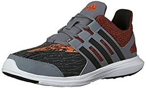 adidas Performance Boys' Hyperfast 2.0 K Running Shoe, Grey/Black/Orange, 12.5 M US Little Kid