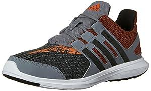 adidas Performance Boys' Hyperfast 2.0 K Running Shoe, Grey/Black/Orange, 10.5 M US Little Kid