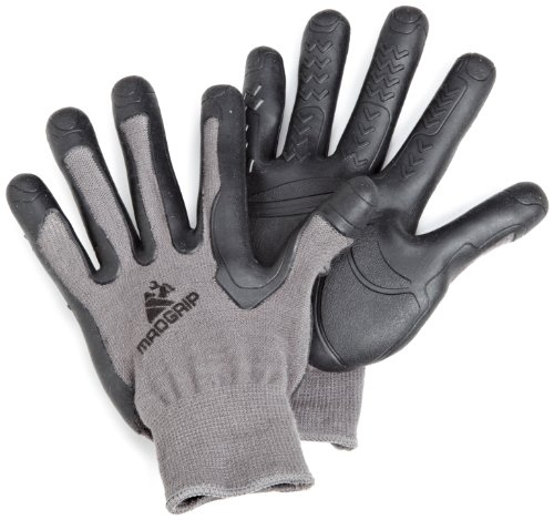 Mad Grip Pro Palm Glove 100,Grey/Black,X-Small 