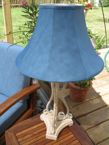 Outdoor Table Lamp: White