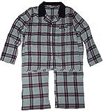 Tommy Hilfiger Women's Two Piece Pajama Set, Size XL, Blue Plaid