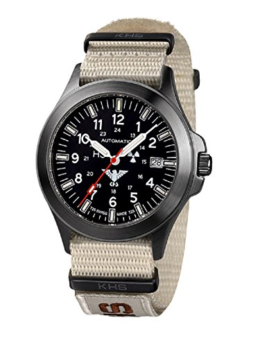 KHS Tactical watches Negro hombre Titan Automatic KHS. BPTA.NXTLT5 Titan IPB OTAN XTAC colour