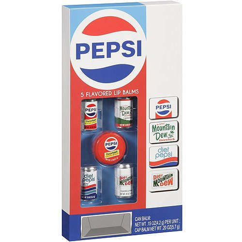 Lotta Luv Pepsi 5 Flavored Lip Balms ~ Throwback Cans front-428179