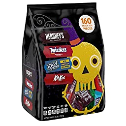 HERSHEY\'S Halloween Snack Size Assortment (48-Ounce Bag, 160 Pieces)