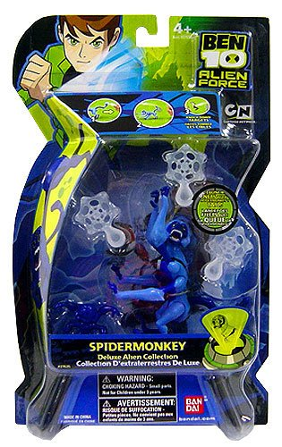 Picture of Bandai Ben 10 (Ten) 4 Inch Deluxe Alien Collectible Series 3 Action Figure Spidermonkey (B001NYCE88) (Ben 10 Action Figures)